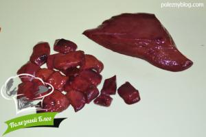Тушёная свиная печень в сливках | Шаг 3