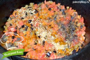 Тушёные баклажаны с помидорами | Шаг 10