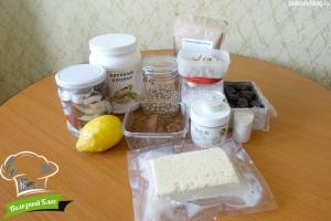 Веганский чизкейк Зебра   Ингредиенты
