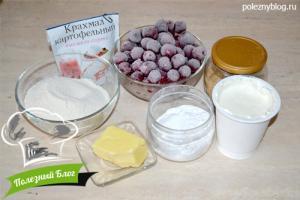 Вишневый пирог с крошкой | Ингредиенты