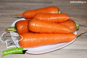 Заготовка сушёной моркови | Ингредиенты