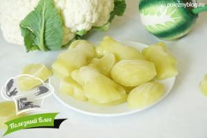 Замороженное пюре из цветной капусты   Готовое