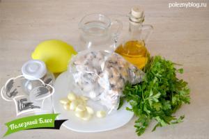 Жаренные мидии с чесноком | Ингредиенты
