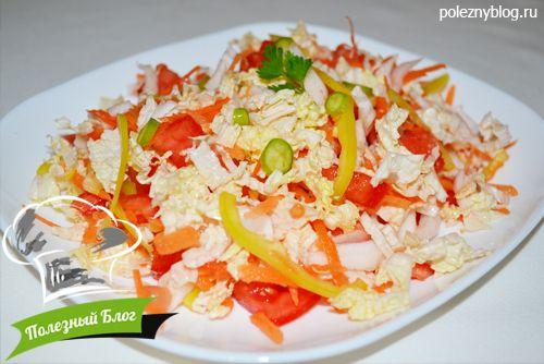 Салат из пекинской капусты свеклы и моркови