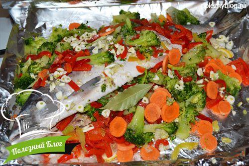 105Горбуша с овощами в духовке пошаговый рецепт