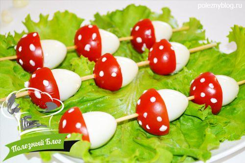 Как сделать грибы из помидоров 880