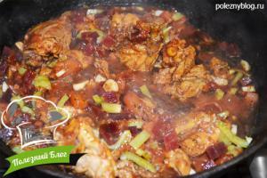 Курица тушёная с кабачками | Шаг 16