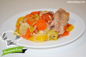 Курица с овощами в пароварке | Готовая