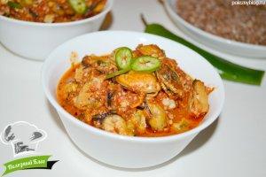 Мидии в томатном соусе с чесноком | Готовые