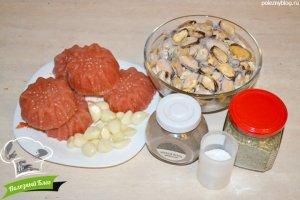 Мидии в томатном соусе с чесноком | Ингредиенты