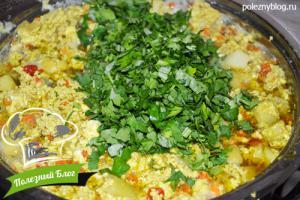 Овощной суп с яйцом   Шаг 10