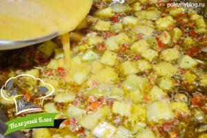 Овощной суп с яйцом   Шаг 9