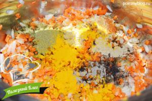 Овощной суп с яйцом   Шаг 4