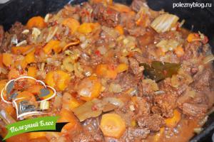 Тушёная говядина с луком и морковью   Шаг 12