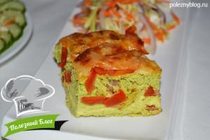 Зелёное яичное суфле со шпинатом и укропом | Готовое