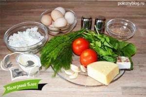 Зелёное яичное суфле со шпинатом и укропом | Ингредиенты